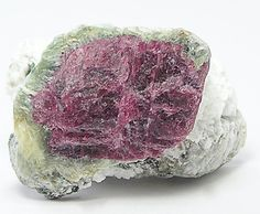Watermelon Ruby gem crystal in Clinochlore Green by FenderMinerals