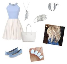"""""""Baby Blue Dress"""" by charlotteboyle ❤ liked on Polyvore featuring Stone Paris, BERRICLE and Lauren Ralph Lauren"""