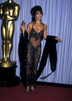 Celebration of Oscar Fashion: Cher in Bob Mackie Bob Mackie, Oscar Dresses, Prom Dresses, 80s Halloween Costumes, Party Costumes, Halloween Inspo, Cher Bono, Hollywood Red Carpet, Oscar Fashion