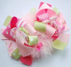 We are all about pretty hair bows, a girl can never have enough