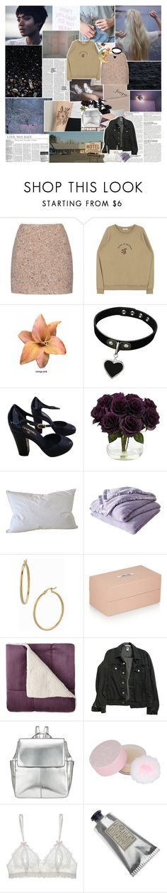 """""""don't belong to no man"""" by gloomed ❤ liked on Polyvore featuring McGinn, Acne Studios, Clips, Chanel, Nearly Natural, Natural Comfort, Shabby Chic, Bony Levy, Miu Miu and JCPenney Home"""