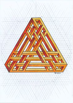 #impossible #isometric #penrose #triangle #handmade #symmetry #geometry #escher #oscareutersvärd #mathart #regolo54