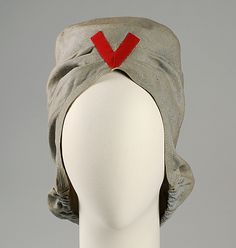Hat | Sally Victor (American, 1905-1977) | Date: 1942 | Material: cotton | The Metropolitan Museum of Art, New York