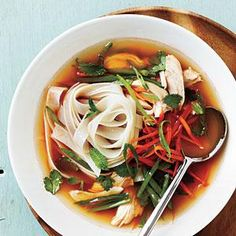 This broth packs a lot of flavor in just a little time. If you don't have the Sriracha on hand, thin slices of jalapeño pepper make a good substitute for this soup recipe.