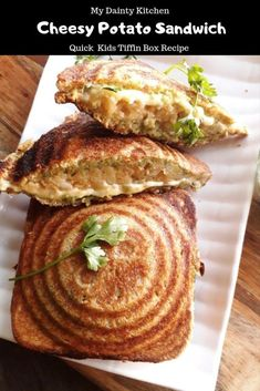 Potato Cheese Sandwich is a quick Kids Tiffin Box Recipe and an easy breakfast recipe. Breakfast Recipes, Snack Recipes, Cooking Recipes, Potato Recipes, Kitchen Recipes, Veg Recipes For Lunch, Potato Sandwich, Pizza Sandwich, Grilled Sandwich