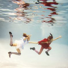 Alice in Waterland and Looking Glass- Elena Kalis