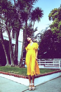 Stunning yellow silk Vintage dress now on sale at http://covetcult.com/product/electrical-banana/