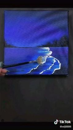 Easy Canvas Art, Simple Canvas Paintings, Small Canvas Art, Mini Canvas Art, Disney Canvas Art, Realistic Paintings, Diy Canvas, Easy Paintings, Landscape Paintings