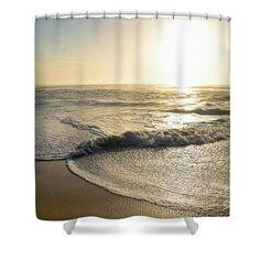 Kissing Waves at Sunrise by Kaye Menner Shower Curtain
