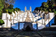 North of #Portugal in Pictures - Photos from Porto, Douro Valley, Guimaraes and Braga - via European Travel Magazine 11-12-2016 | With a base in Porto for the whole month of November 2016, the Travel Team explored the city and surrounding sights such as UNESCO World Heritage recognised Douro Valley, Guimaraes – the birthplace of Portugal and Braga – city of archbishops. Photo: Stairway and church of Bom Jesus do Monte, Braga