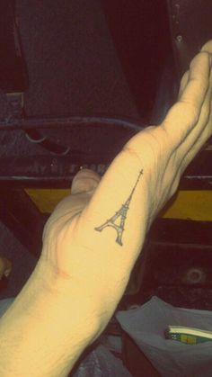 Eiffel tower tattoo. One day I am going to go to Paris and then I will get this