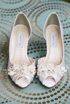 764df407389 These are some of the most beautiful wedding shoes we have ever seen! Wedding  Shoes - Swarovski Crystals   Pearls - Bridal Shoe - Choose From over 200  Shoe ...