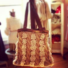knit purse  Scarlett Scales Antiques - Franklin, Tennessee Hip Antique Boutique