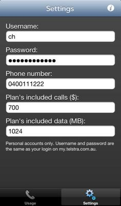 Top iPhone Game #191: Telstra Data and Calls Usage - Splinter Software by Splinter Software - 03/17/2014