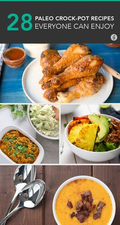 Your friends will be SO impressed #paleo #crockpot #recipes http://greatist.com/eat/paleo-crock-pot-recipes Paleo Crockpot Recipes, Slow Cooker Recipes, Cooking Recipes, Real Food Recipes, Crock Pot Cooking, Crock Pot Slow Cooker, Clean Eating Recipes, Eating Clean, How To Eat Paleo