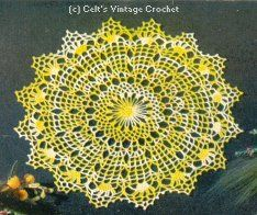 Spider Web Doily  - Doilies, Doilies, Doilies  - Star Doily Book No. 87 - American Thread Company - 1951