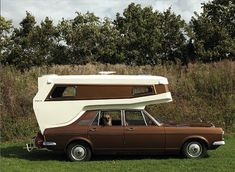 So cool! This unique 1960s Ginetta car-camper – only one has been made, ever – on a 1970s Ford Zodiac.