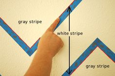 """Chevron wall tutorial using 1"""" blue Scotch 3M Delicate Surfaces with EdgeLock painters tap"""