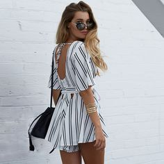Gorgeous rope waist romper from Pretty & Posh