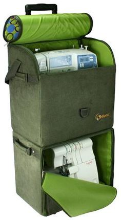Rolling sewing machine and serger tote!! Finally someone is thinking.