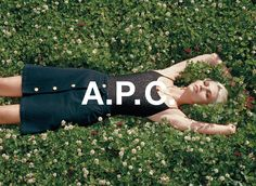 A.P.C. SS 14 campaign. Aline Weber shot by Walter Pfeiffer.