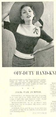 Subversive Femme: Jack-Tar (Sailor) Jumper, from Stitchcraft June 1951