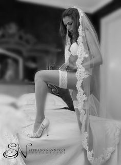 Bride's  boudoir session photo