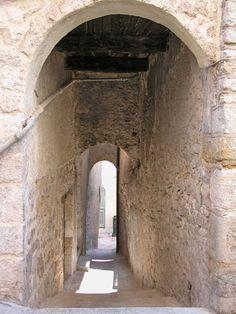 Claviers ~  Vaulted passage.