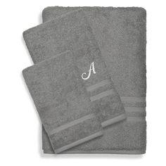 Linum Home Textiles Denzi 3 Piece Cotton Towel Set Twilight Blue - DNZ50-3C-LF-00-W