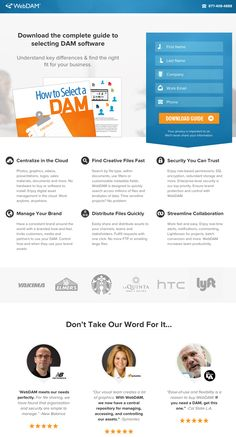 Landing page web design by WebDAM. Best Landing Page Design, Landing Page Examples, Best Landing Pages, Naming Your Business, Business Advice, Web Design Examples, Company Work, Website Design Inspiration, Business Design