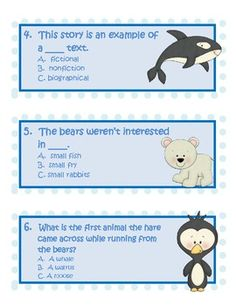 """FREE """"Polar Bear Scare"""" Comprehension Activities by Triplets plus One"""