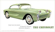 1955 Motorama - The Chevrolet Biscayne experimental four passenger model (front view)