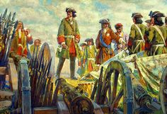 Tsar Peter the Great planning the Battle of Poltava