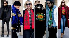 Statement Scarves and Gucci Logos Were Street Style Favorites at Men's Fashion Week in Paris