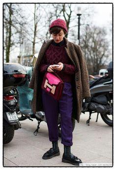 Burgundy, purple, brown, pink