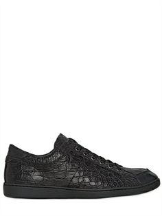 DOLCE & GABBANA GUATEMALA CROCODILE SNEAKERS Men's Footwear, Luxury Shop, Crocodile, Florence, Crocs, All Black Sneakers, Men's Fashion, Menswear, Louis Vuitton