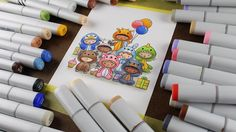 Color all the stamps! #thehumanrainbow