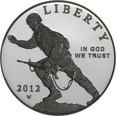 1 Dollar Silber Infanteriesoldat PP