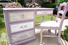 How to decoupage furniture. So many paper possibilities!