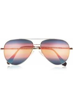 Aviator-style mirrored sunglasses #accessories #sunny #covetme #Cutler and Gross