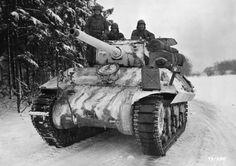 "American tank destroyer M10 «Vulverayn"" in the woods near the Belgian village Benonsham"