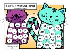 FREEBIE Phonics Board Game - This Short a CVC Board Game from Games 4 Learning can be a game for 2 players or can be used for teacher directed activities.