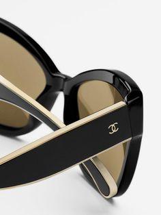 black & tan classic Chanel sunglasses