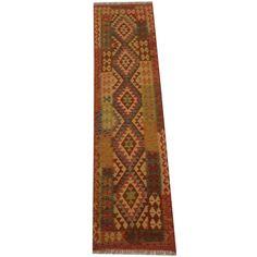 Herat Oriental Afghan Hand-woven Tribal Vegetable Dye Mimana Kilim Runner