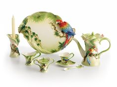 """""""Precious Possessions""""  -   """"Amazon Rain Forest Collection"""" -    Franz Porcelain is an amazing collection of Chinese porcelain, blending oriental character with Art Nouveau style.  Inspired by the love for nature, Franz Porcelain developed delicate butterflies, fragile flowers, whimsical animals, and other motifs. Every piece of Franz Porcelain blends the essence of Oriental culture with the styling inspired by Western artistry."""