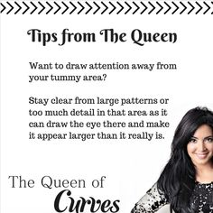 Not keen on your tummy? Try this handy tip. Hourglass Body Shape, Pear Body, Ruffle Skirt, Body Shapes, Helpful Hints, Curves, Queen, Tips, Pears