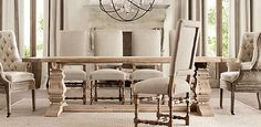 www.askamyinc.com. Restoration Hardware table set great way to mix rustic style.