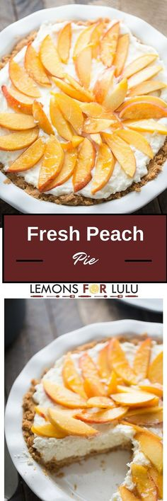 fresh peach pie is easy, creamy and delicious! This crown pleasing pie ...