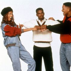 Tyra Banks, Will Smith and Carlton Banks hanging out