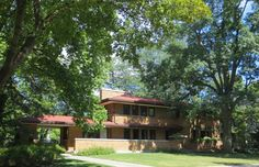 Harry Adams House. Oak Park, Illinois. 1913. Prairie Style. Frank Lloyd Wright